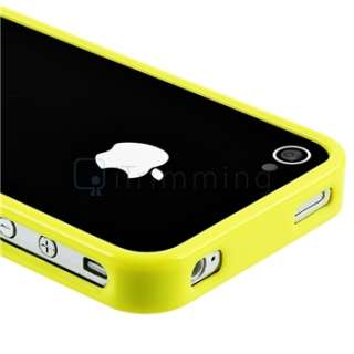 Bumper Yellow TPU Rubber Soft Case Cover+PRIVACY Protector for iPhone