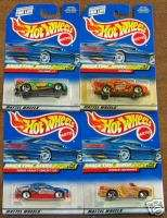 HOT WHEELS 1999 SNACK TIME SERIES COMPLETE SET OF 4