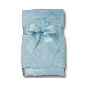 Bearington Baby   Silky Soft Crib Blanket (Blue) Baby