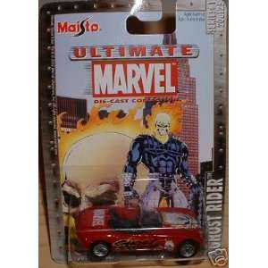 Scale Ghost Rider Red Dodge Concept Die Cast Car Maisto Toys & Games
