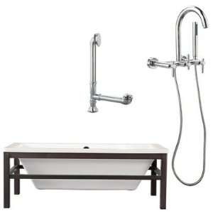 Tella 67 Tub with Wall Mount Faucet and Lever Handles in