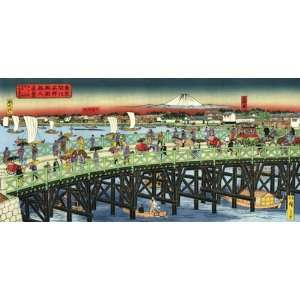 Ryogoku in the Age of Civilization Wooden Jigsaw Puzzle Toys & Games