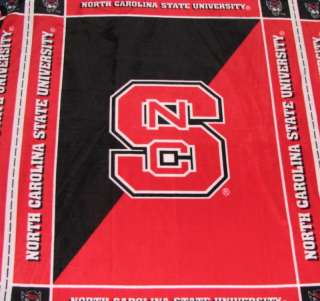 North Carolina State University Fleece Fabric Panel
