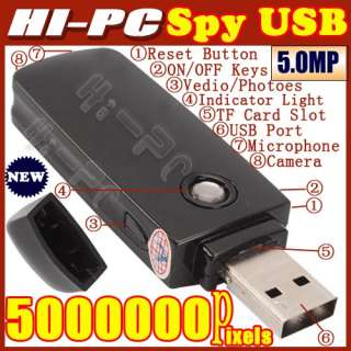 8GB NEW Mini HD Spy USB U Disk Camera Cam DVR DV Video Recorder