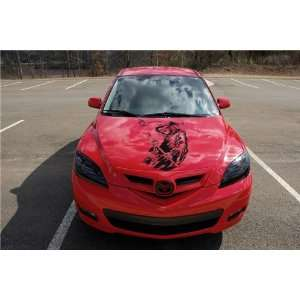 MAZDA HOOD DECAL sticker FIT ANY CAR DEATH
