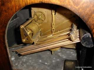 Magnificent Enfield Art Deco Oak Mantle Clock   Musical Chimes