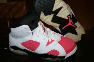 JORDAN RETRO 6 WHITE/PINK SZ 11 KIDS BRAND NEW