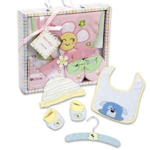 Baby Gift Set 4 Piece With Wooden Hanger Case Pack 24