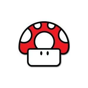 Super Mario Mushroom TOAD Nintendo car decal sticker 4