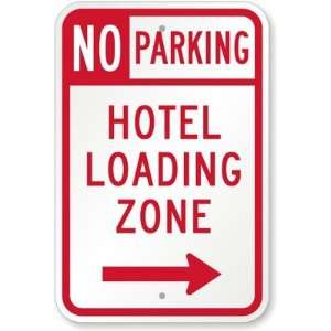 No Parking   Hotel Loading Zone (with Right Arrow