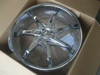 24 KMC TIS DUB 300C Charger Wheels Rims 275/25 Tires