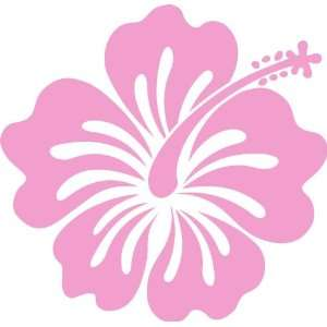 Hawaiin Hibiscus Auto Car Wall Decal Sticker Pink 8.5X8.25