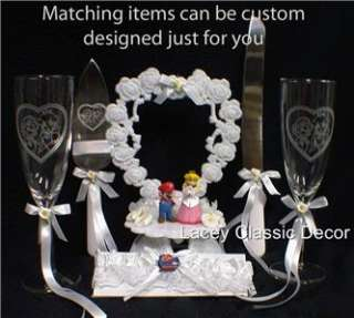 MARIO Princess Wedding Cake Topper TOP Princess Peach groom top