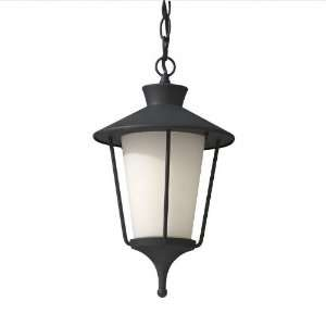 Hawkins Square 15 Textured Black Outdoor Pendant