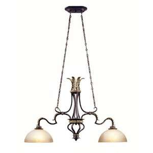 Collection Hanging Two Light Fixture In French Bronze Finish   2 Bulbs