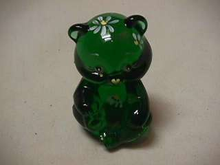 HANDPAINTED DAISY MINI EMERALD GREEN BEAR MADE EXCLUSIVELY GIFT SHOP