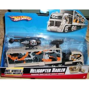 HOT WHEEL TRANSPORT TRUCK HELICOPTER HAULER Toys & Games