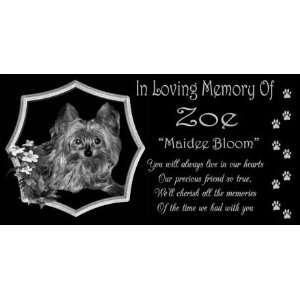 12 x 6 Lazer Gifts Personalized Black Granite Pet Memorial
