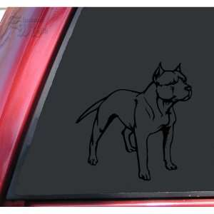 Pit Bull / Pitbull Full Body Vinyl Decal Sticker   Black