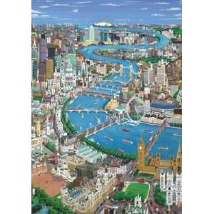London the Thames 250 Piece Wooden Jigsaw Puzzle Toys & Games