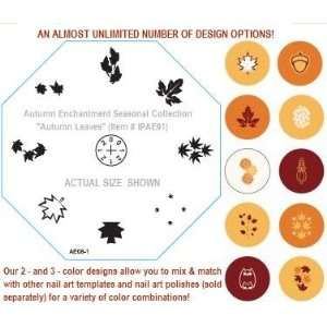 Diva Elements Nail Art Template Autumn Leaves Beauty
