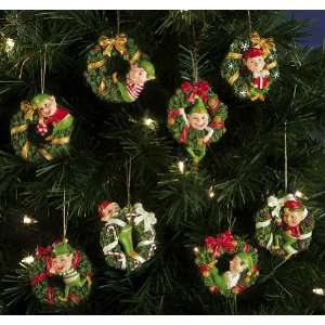 Santas Helpers Elves Christmas Collectible Ornaments By Collections