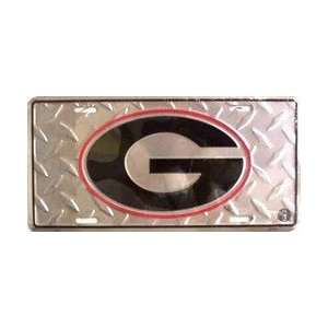 6x12) University of Georgia G Diamond Cut NCAA Tin License Plate