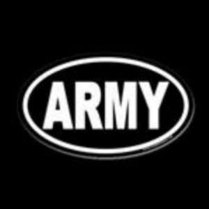 6 white US ARMY Euro oval vinyl decal sticker Everything