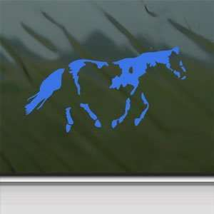 Paint Horse Blue Decal Car Truck Bumper Window Blue