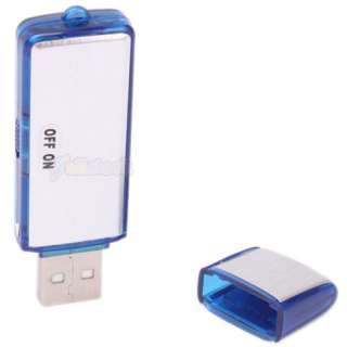 USB 2.0 Digital Voice Recorder Flash Drive Silver Disk Function