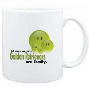 Mug White FAMILY DOG Golden Retrievers Dogs