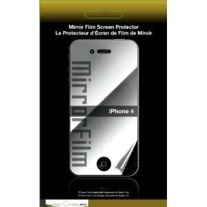 Green Onions Supply Mirror Film Screen Protector for Apple iPhone 4
