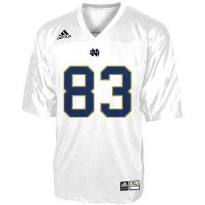 adidas Notre Dame Fighting Irish #83 White Preschool Replica Football