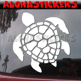 HONU GREEN SEA TURTLE SHELL Vinyl Decal Car Hawaii H68
