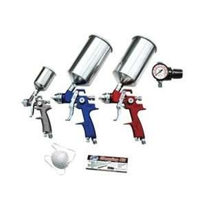 9 Pc. ATD HVLP Spray Gun Set Touch Up Primer & Topcoat