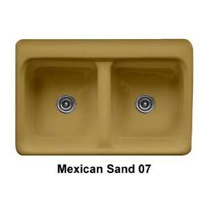 Finish Mexican Sand, Faucet Drillings Single Hole