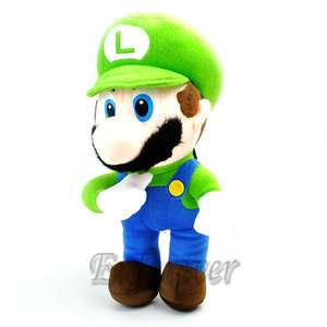 12.5 Super Mario Bros LUIGI Soft Plush Toy Doll^MT90