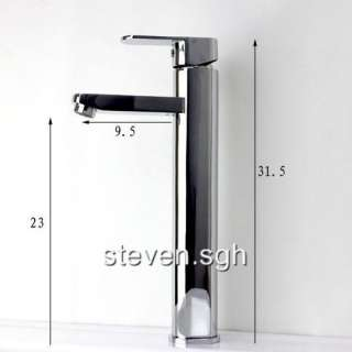 Luxury Chrome Tall Bathroom Faucet Mixer Tap 5658