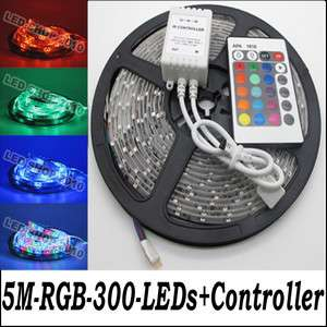 5M 3528 RGB Waterproof Flexible Strip 300 LED Light + IR remote