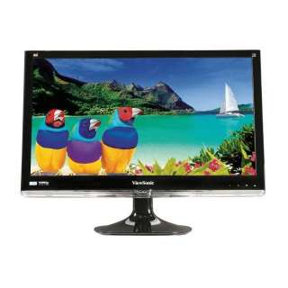 ViewSonic 24 Widescreen DVI VGA LED LCD Monitor NEW