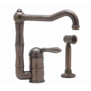 Rohl Country Kitchen Single Metal Lever Kitchen Faucet With Side Spray