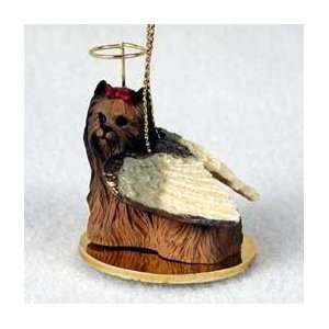Yorkie (Yorkshire Terrier) Angel Ornament