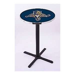 Florida Panthers HBS Pub Table with Black Wrinkle base