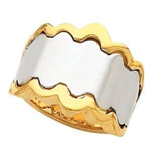 14K White/Yellow Gold RING Two Tone Metal Fashion Remount
