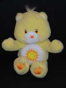 Care Bear Funshine Yellow Plush Hugging   Blowing Kisses   Talking