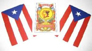 PUERTO RICO FLAG SPANISH PLAYING CARDS (BRISCAS)