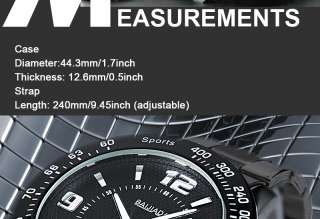 Date Analog Wrist Quartz Mens Stainless Steel Watch Black Dial