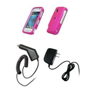 Nokia Nuron 5230   Hot Pink Rubberized Snap On Cover Hard