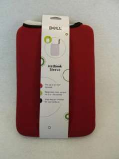 DELL Mini Red/Black Reversible Netbook Sleeve 11.6   GK6P1