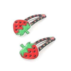 Toddler/Girl Cute Strawberry Design Hair Clip (6179 2) Toys & Games